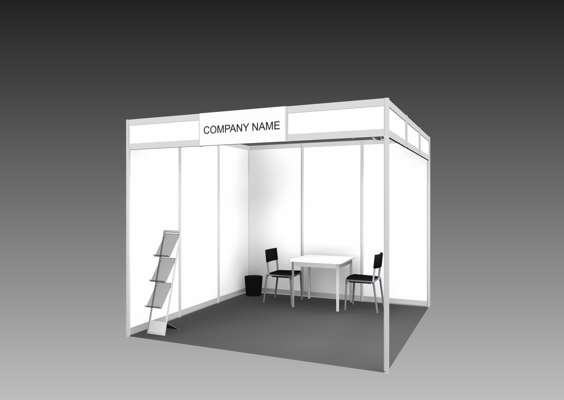 Exhibition Booth Standard Shell Scheme : Exhibition standard shell scheme booth pump summit americas 2018